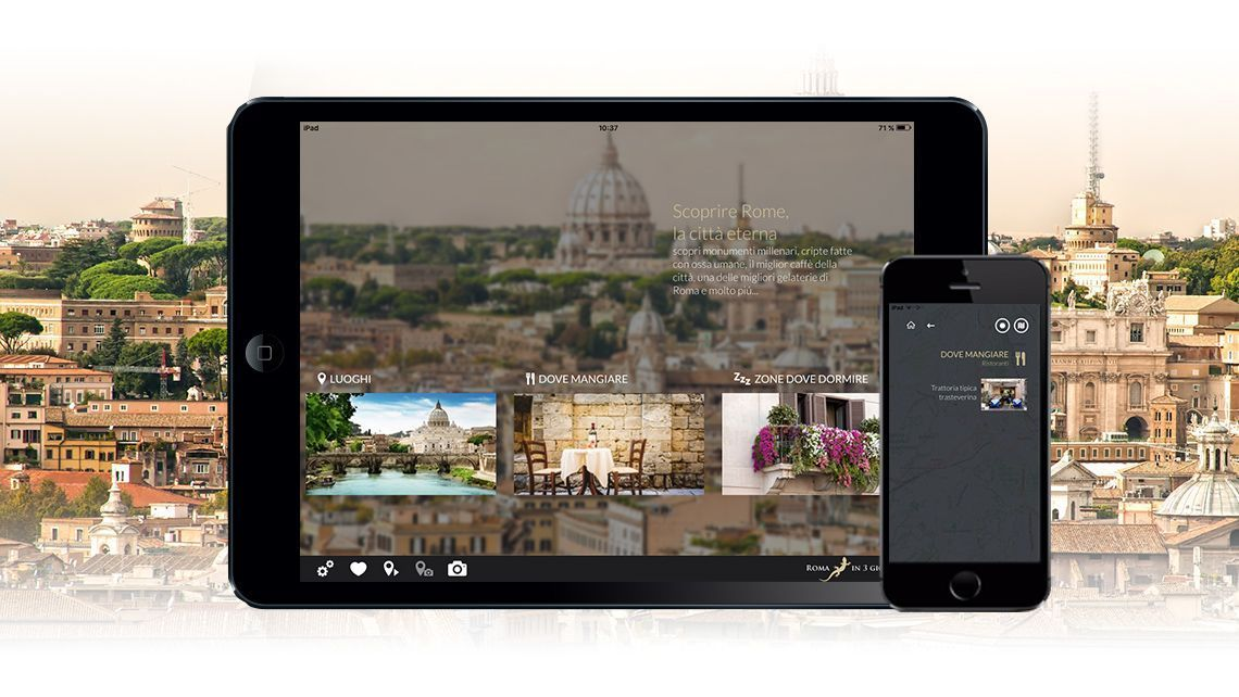 Tourism app ready to use work on smarphone and tablet iOS and Android